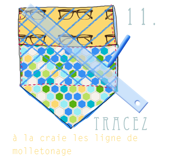 tuto fabric clutch 11