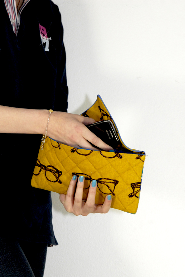 DIY fabric clutch 3