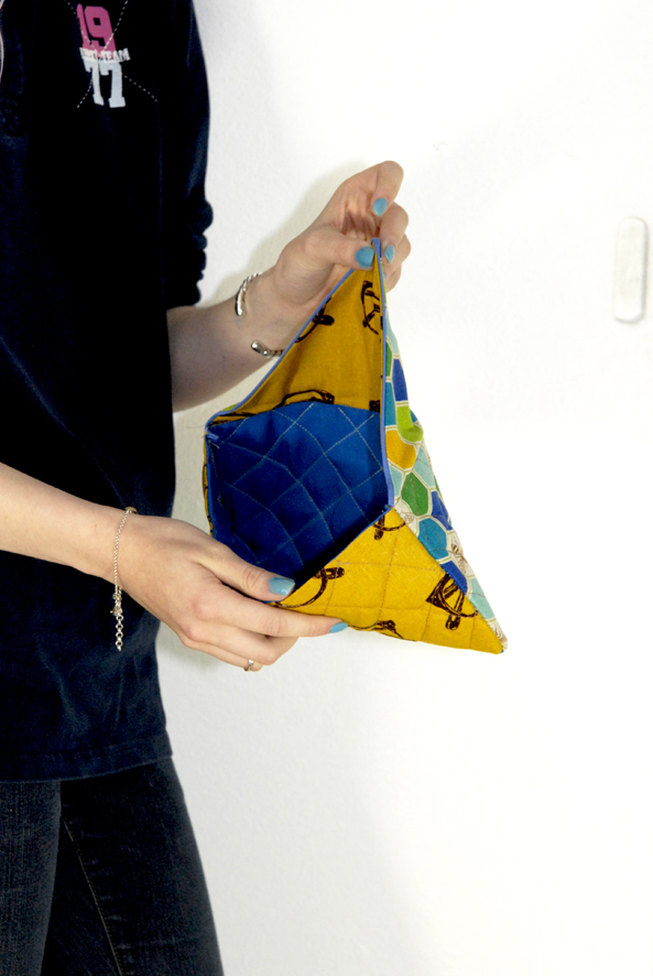 DIY fabric clutch 4