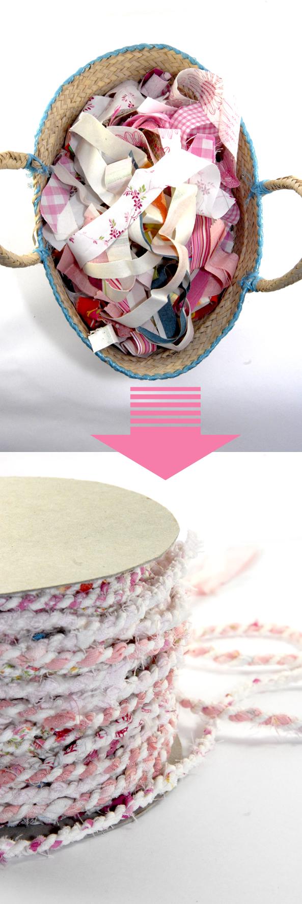 DIY tapis en tissu recyclé 1