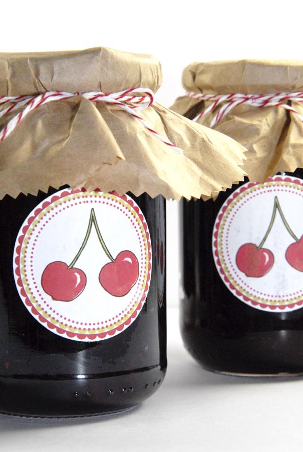 free printable label jam cherrys 1
