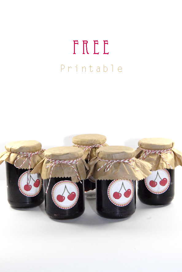 free printable label jam cherrys 3