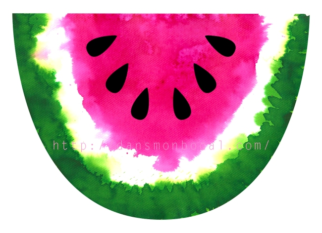 free printable watermelon illustration