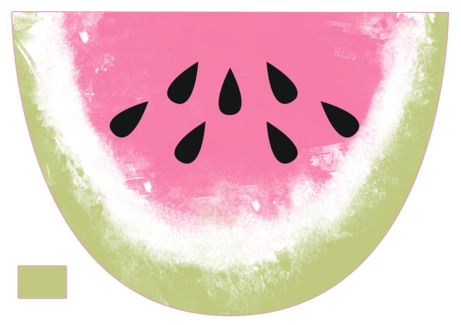 free printable watermelon poutch pattern