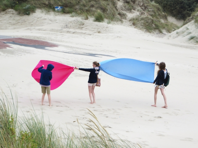jour de vent à la plage de zuydcoote 1