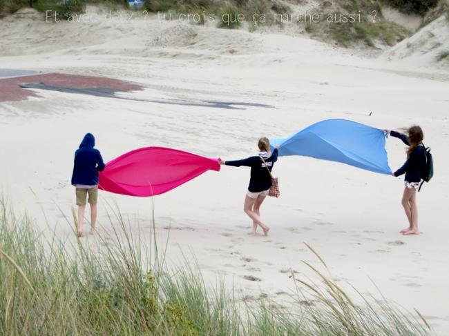 jour de vent à la plage de zuydcoote 2