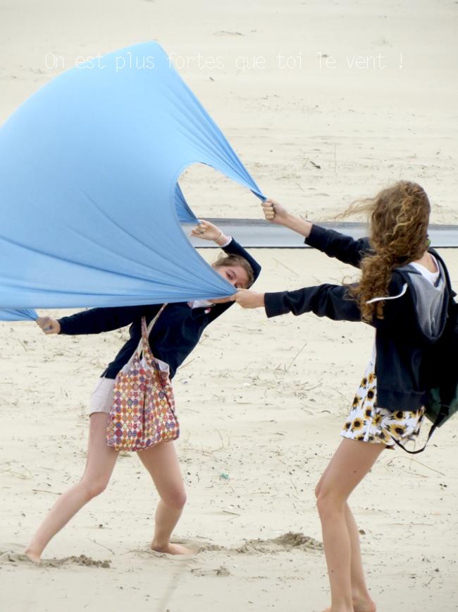 jour de vent à la plage de zuydcoote 6