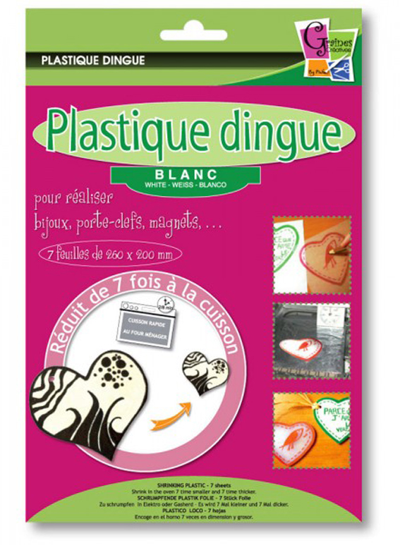 plastique dingue blanc