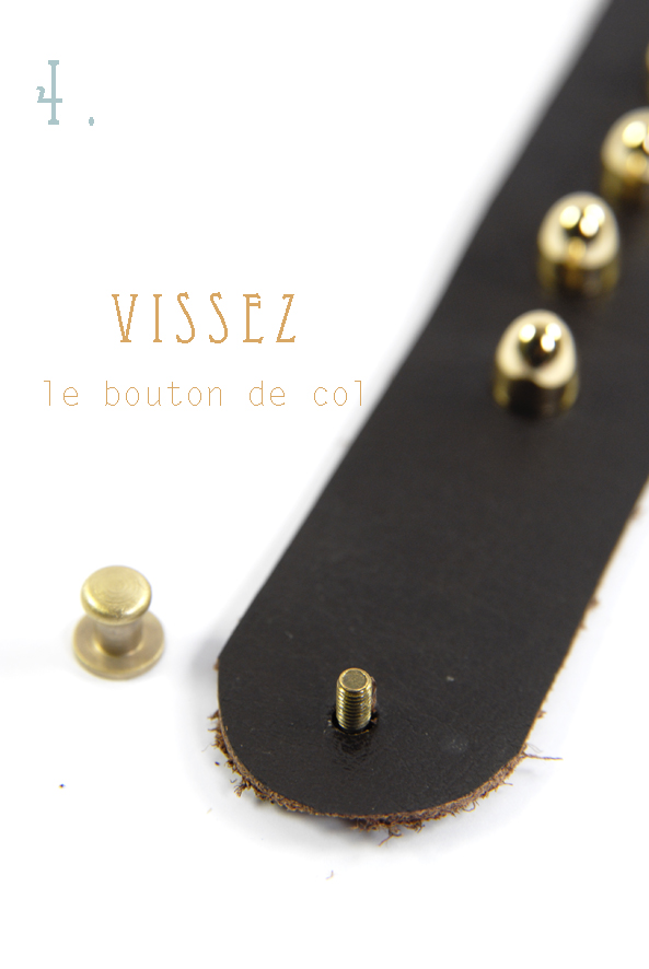 tuto comment faire un bracelet en cuir clout dans mon bocal. Black Bedroom Furniture Sets. Home Design Ideas