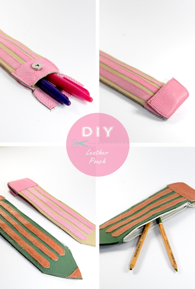DIY little leather pensil pouch trousse crayon 12