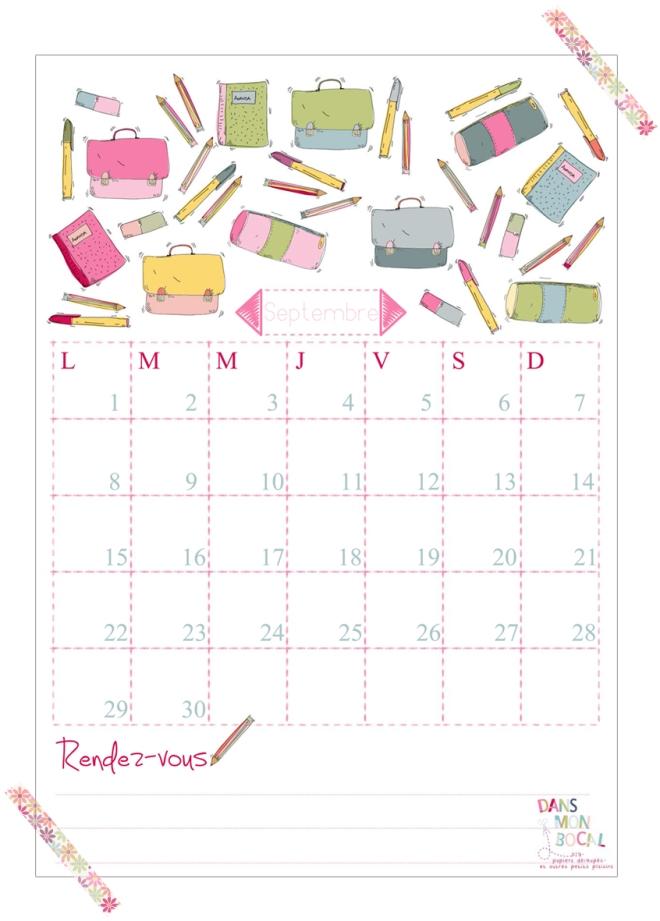 free printable calendar 2014 2015 septembre