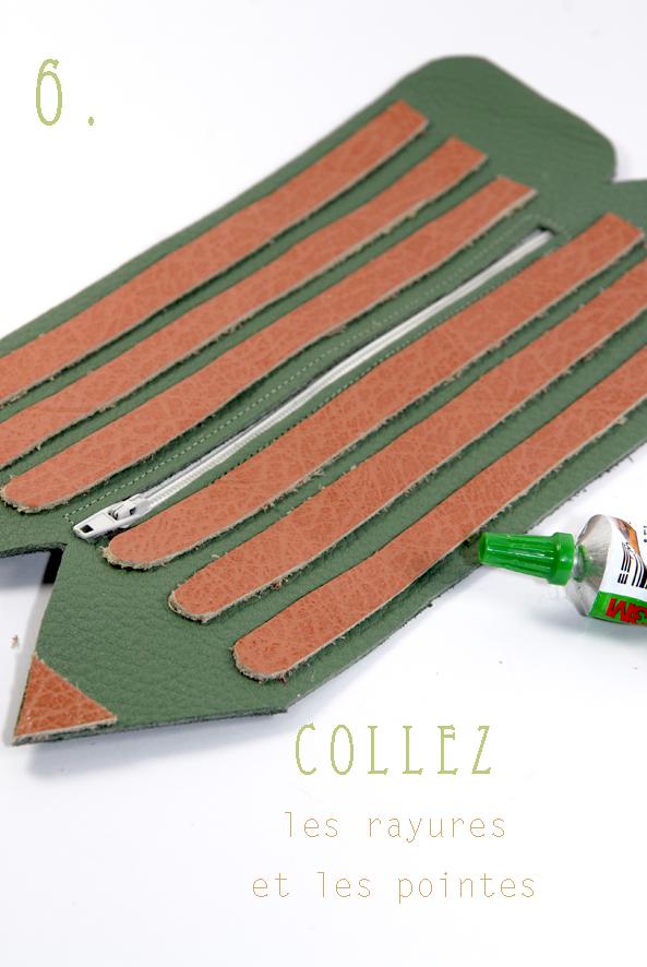 Tuto comment faire une trousse zipp e en cuir en forme de - Tuto trousse crayons de couleur ...
