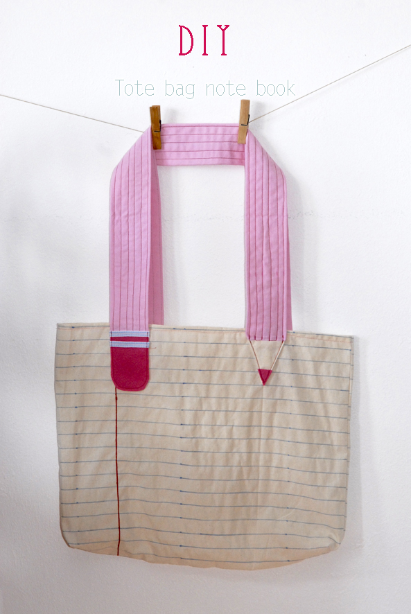 DIY tote bag note book 3