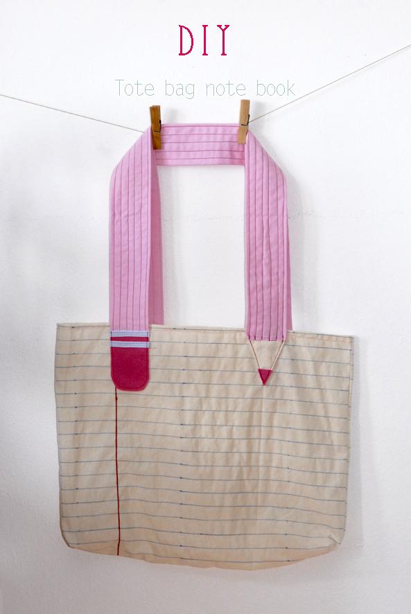 DIY tote bag note book 3