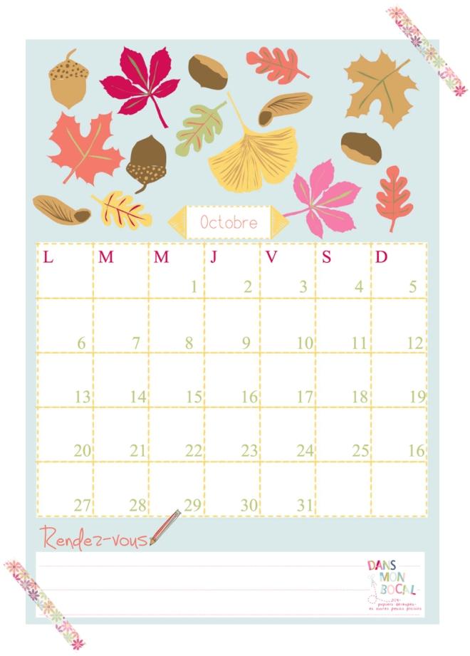 free printable calendar 2014 2015 octobre