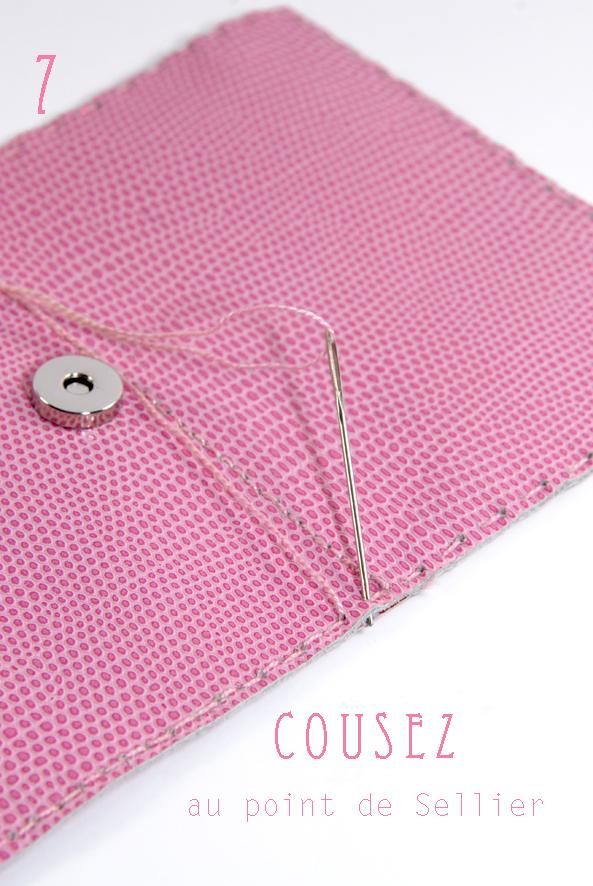 tuto porte-feuille en cuir rose 8