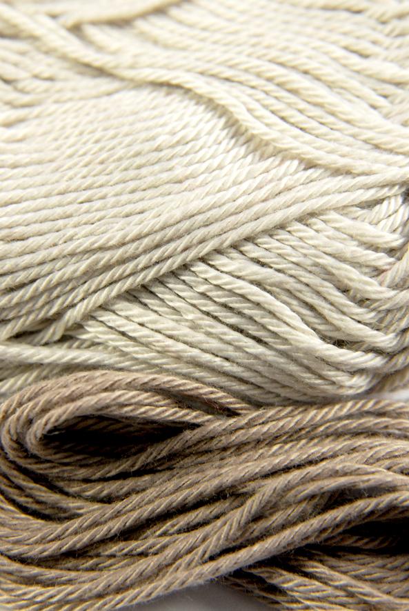 coton mercericé grège et beige