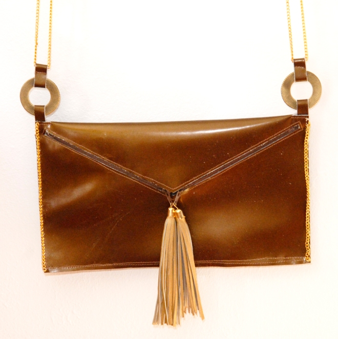 DIY Leather clutch with tassell 2