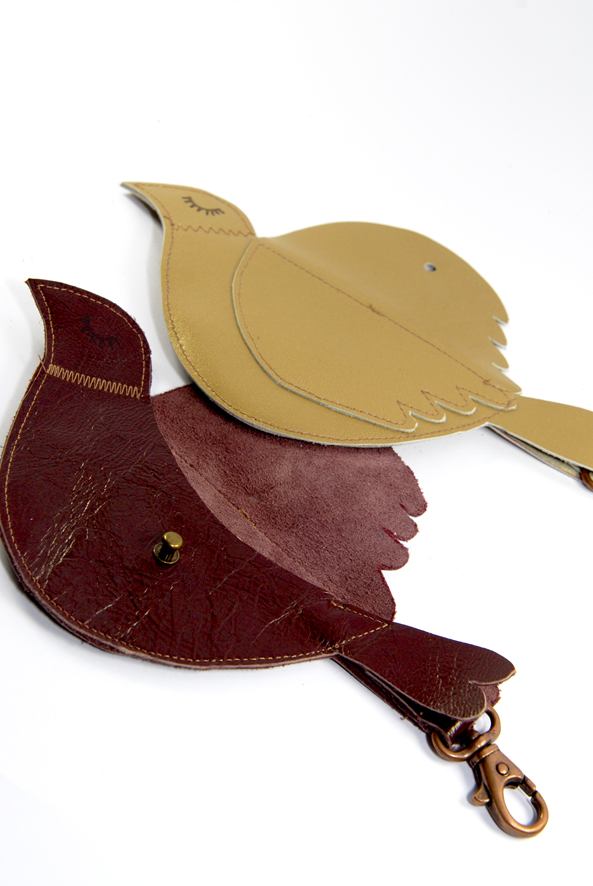 free pattern bird leather purse porte monnaie oiseau 2