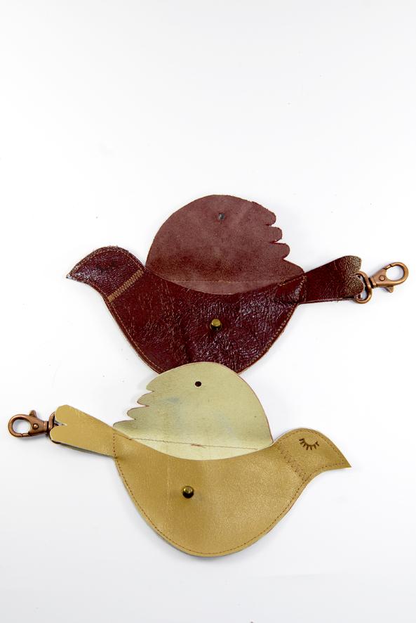 free pattern bird leather purse porte monnaie oiseau 7