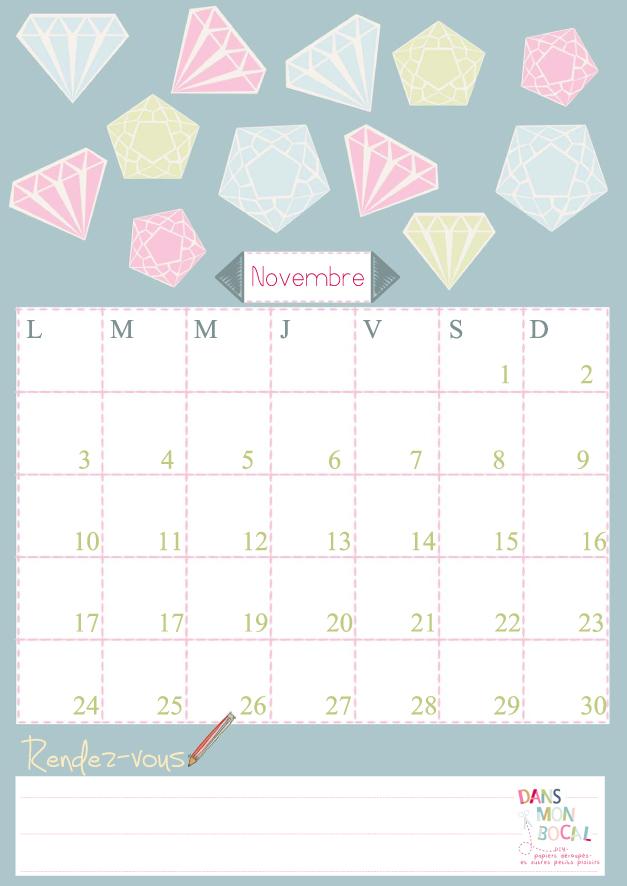 En attendant voici le calendrier de novembre à imprimer comme vous ...