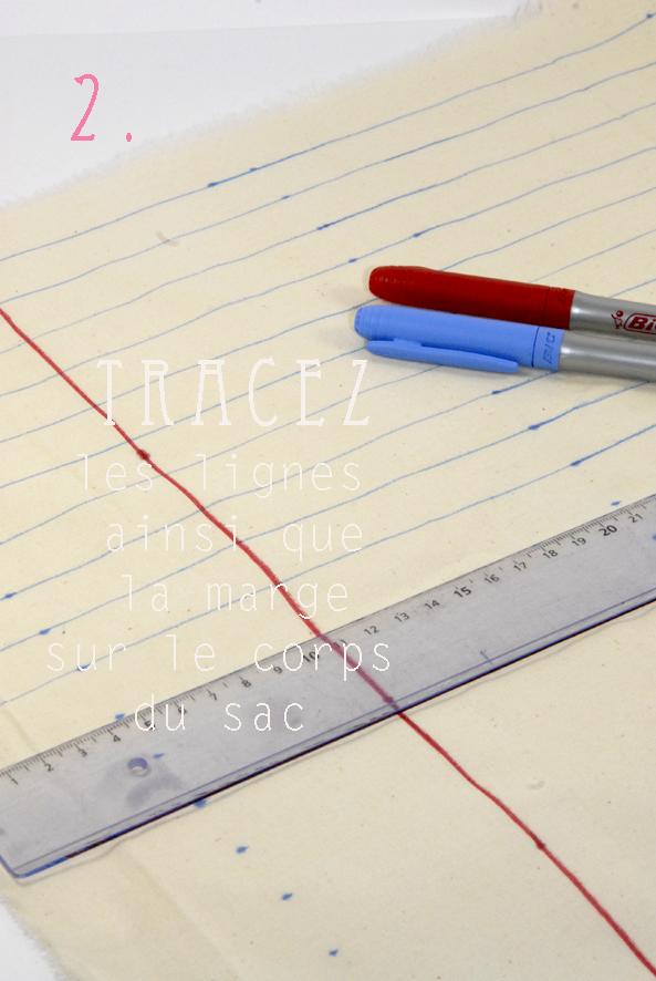 tuto tote bag façon cahier crayon 1 copie