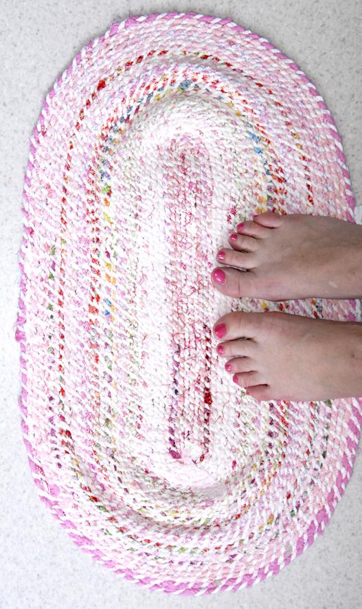 DIY tapis en tissu recyclé 5