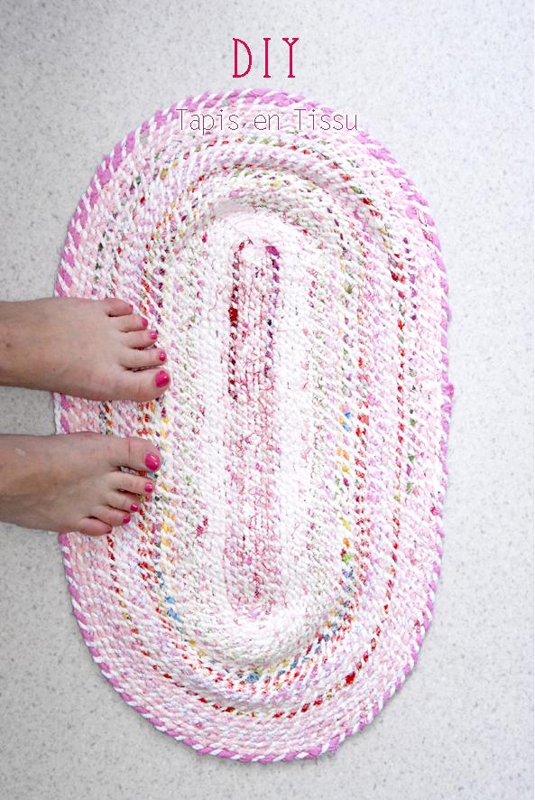 DIY tapis en tissu recyclé 6