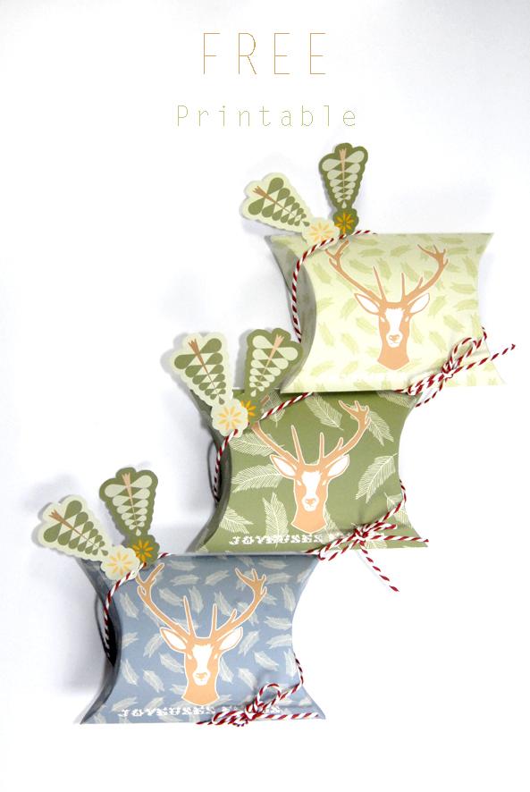 free printable christmass box 2
