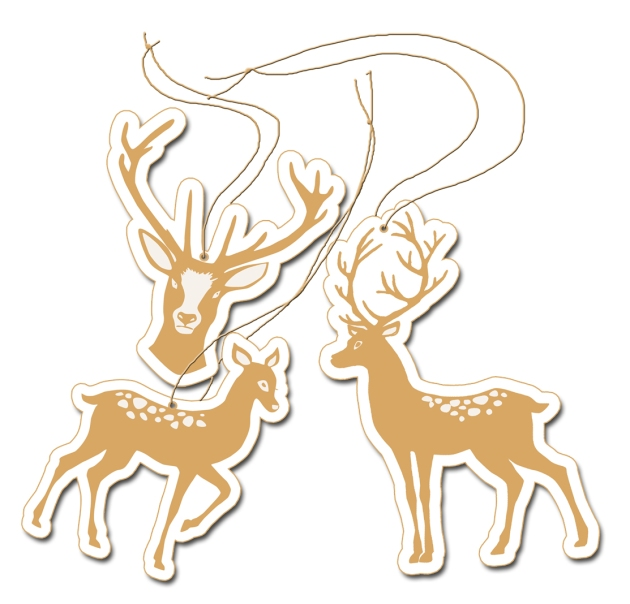 free printable christmass deer label