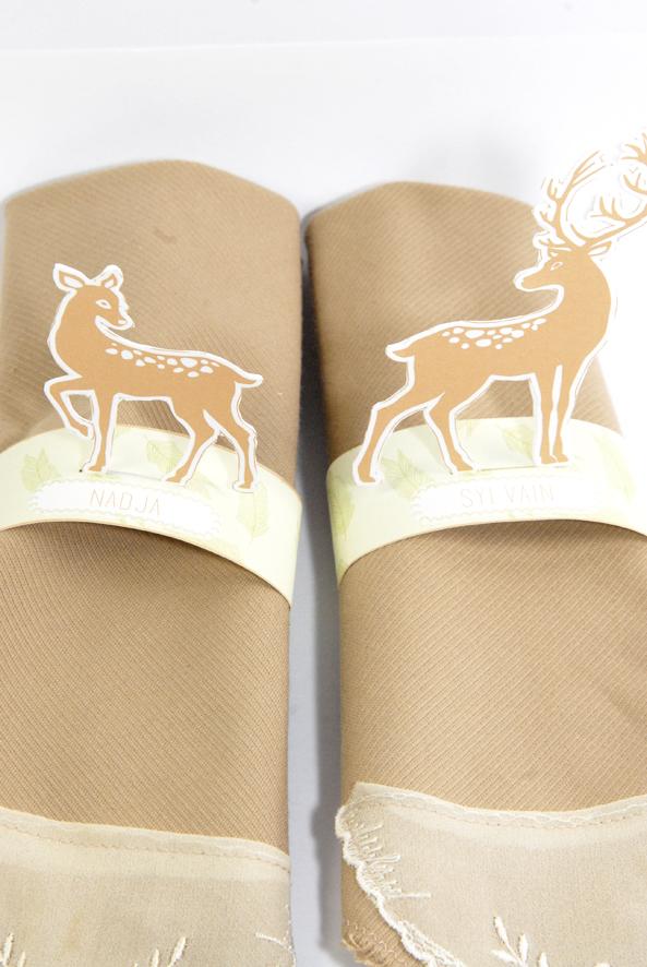 free printable deer  rond de serviette biche 2