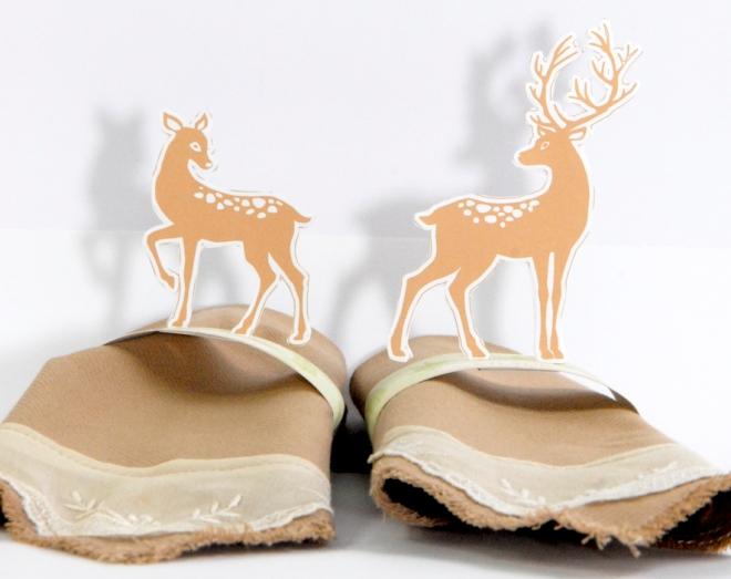 free printable deer  rond de serviette biche 3