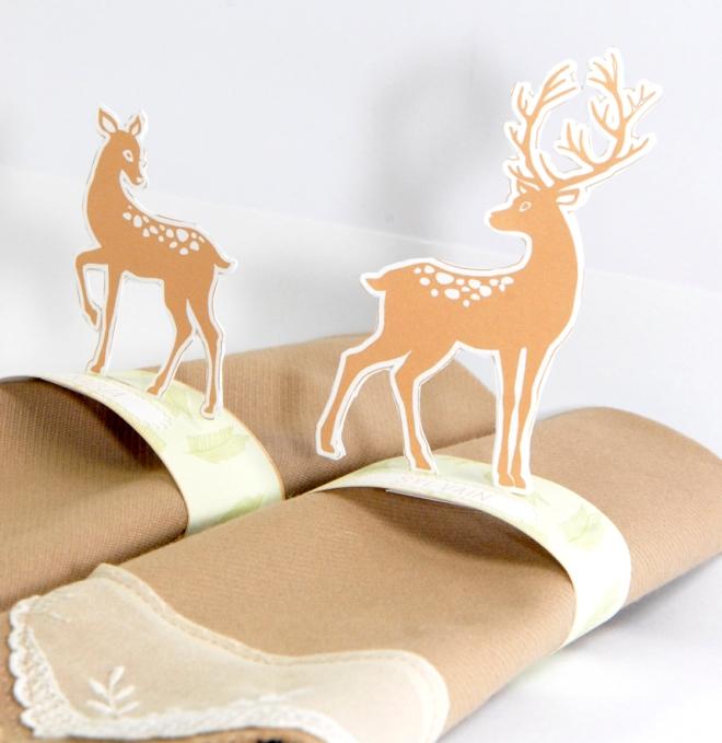 free printable deer  rond de serviette biche 4