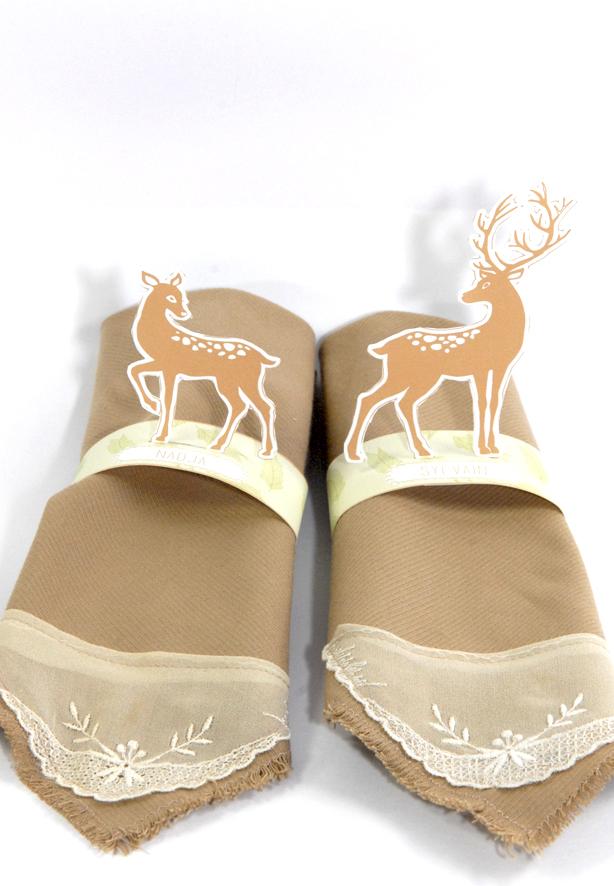 free printable deer  rond de serviette biche 6