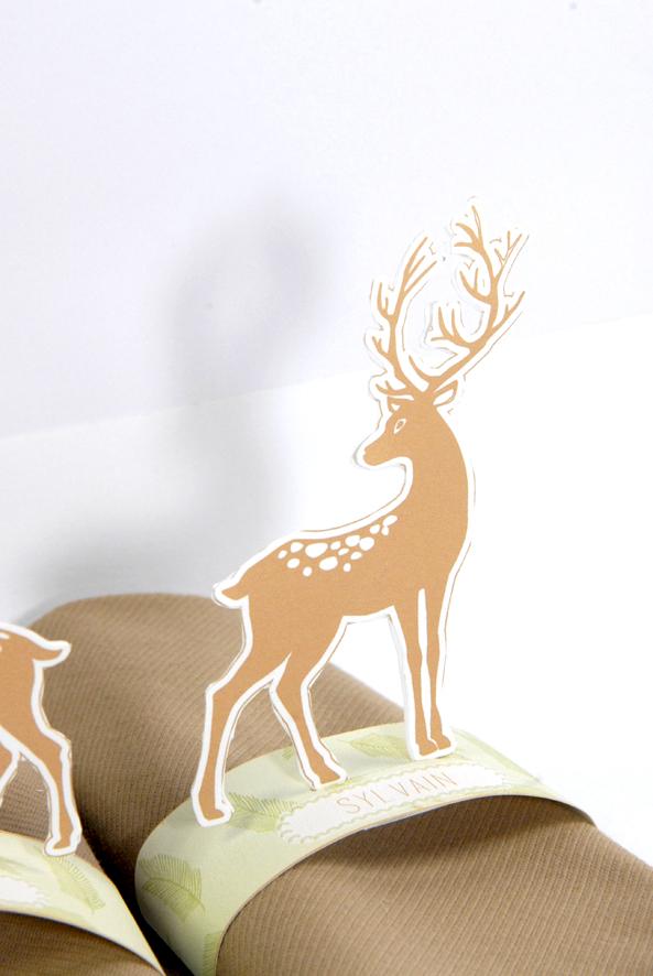 free printable deer  rond de serviette biche 7