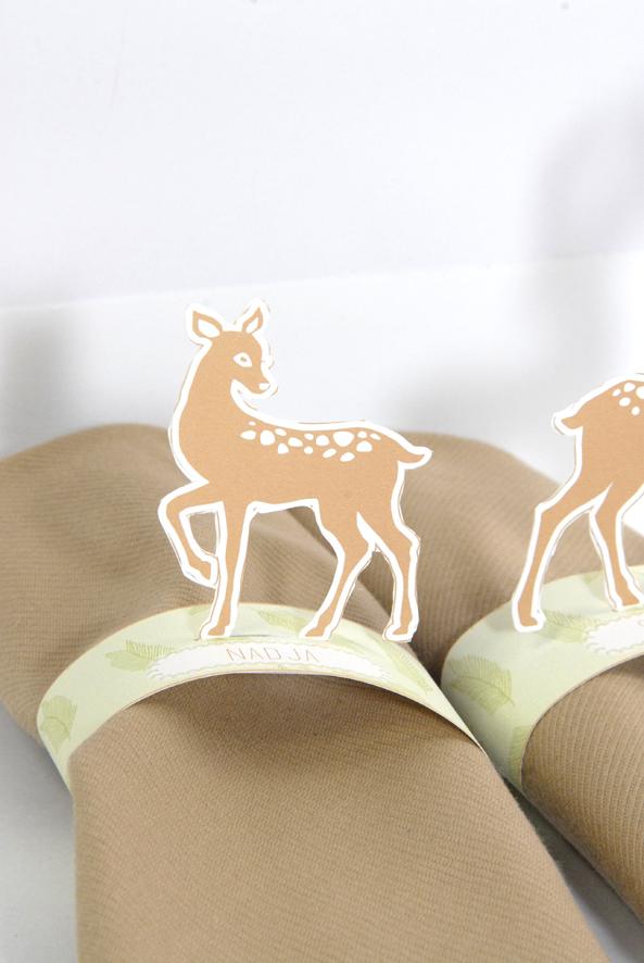 free printable deer  rond de serviette biche 8