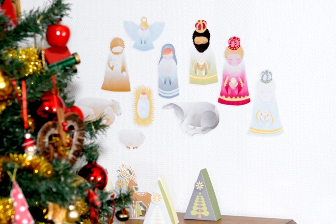 free printable  stichers nativity creche à imprimer en stickers 1