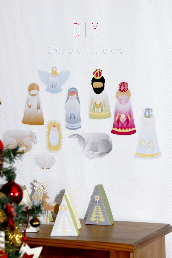 free printable  stichers nativity creche à imprimer en stickers 2