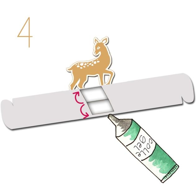 tuto rond de serviette en papier cerf 4