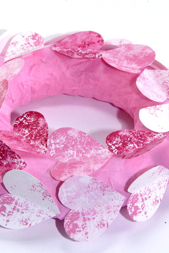couronne de porte St valentin DIY 2