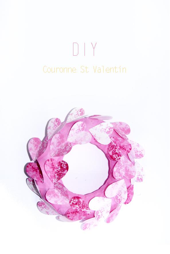 couronne de porte St valentin DIY 5