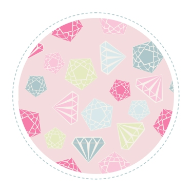 echatillon tissu motif diamant