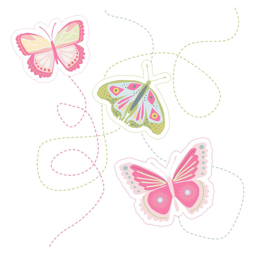 Couronne de papillons dans mon bocal - Papillon imprimer ...