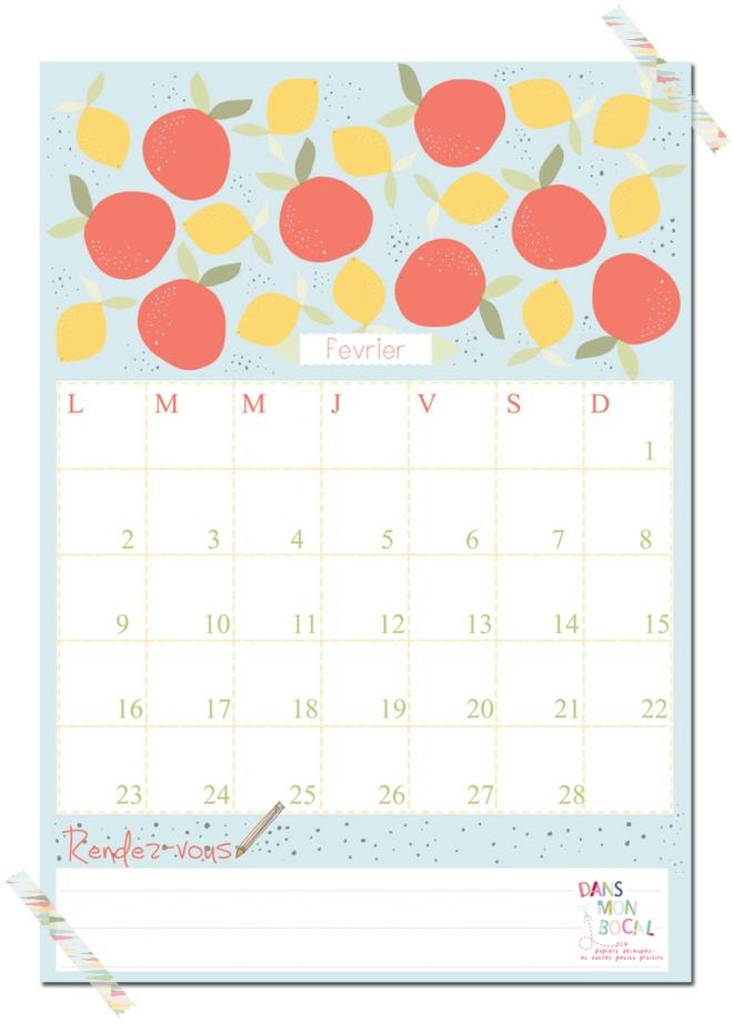 free printable calendar 2014 2015 fevrier