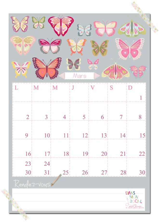 free printable calendar 2014 2015 mars