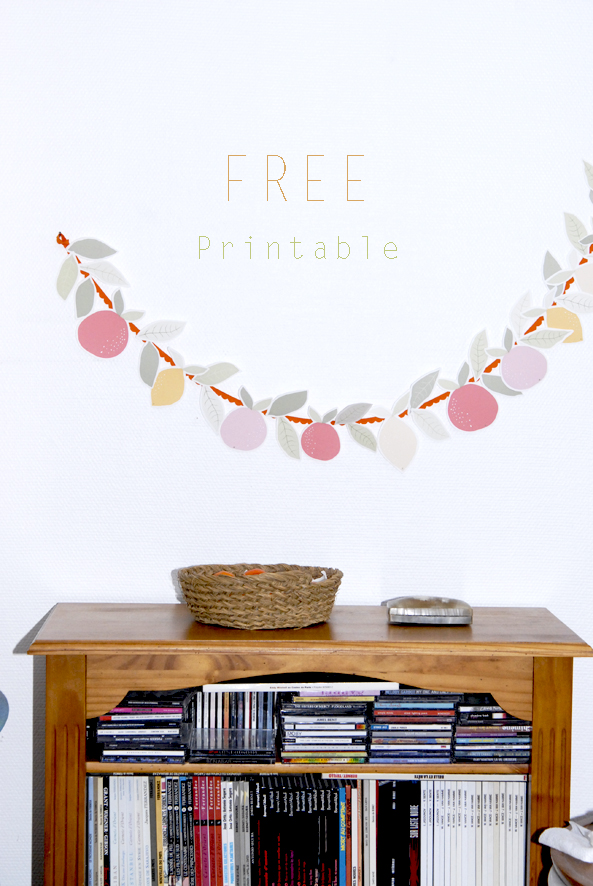 free printable garland agrumes oranges citrus 1
