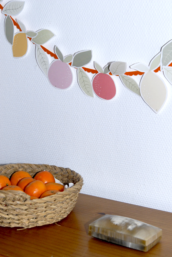 free printable garland agrumes oranges citrus 2