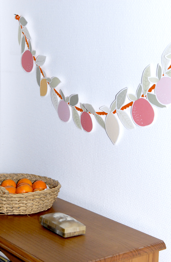free printable garland agrumes oranges citrus 3