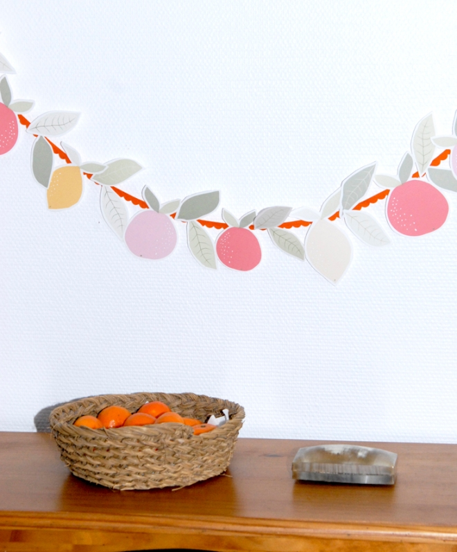 free printable garland agrumes oranges citrus 4