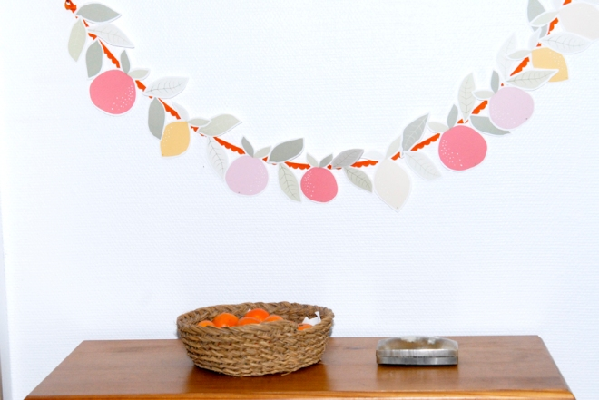 free printable garland agrumes oranges citrus 5